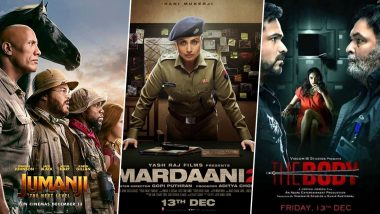 Dwayne Johnson's Jumanji: The Next Level Beats Raani Mukerji's Mardaani 2 and Emraan Hashmi's The Body on Day 1 BO